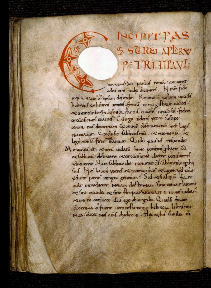 Angers, Bibl. mun., ms. 0281, f. 122v - vue 1