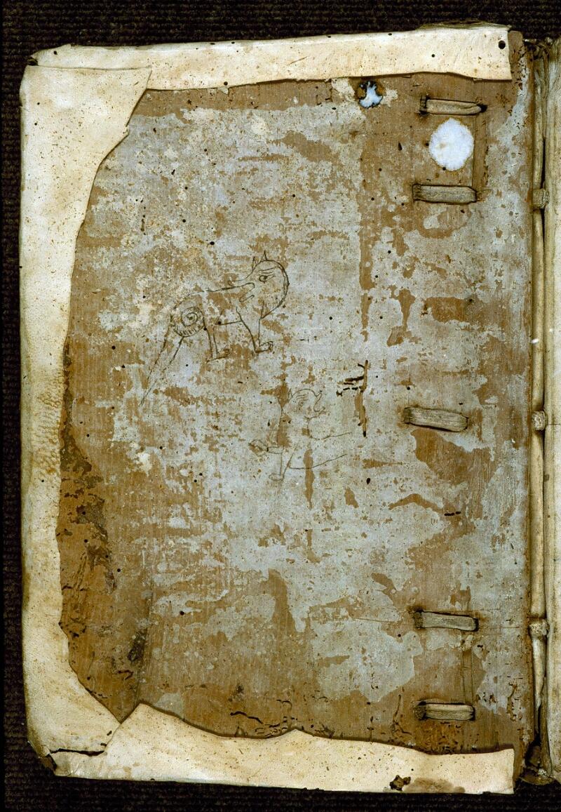 Angers, Bibl. mun., ms. 0285, contre-plat sup. - vue 1