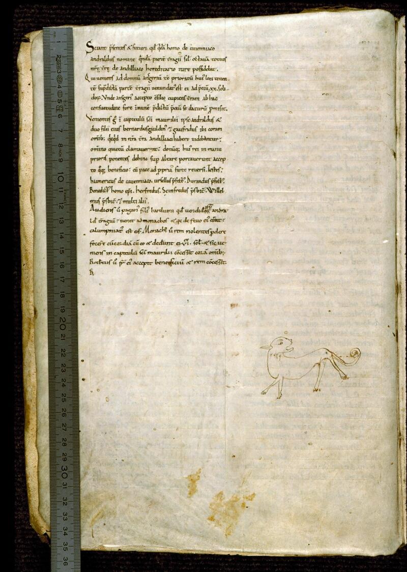 Angers, Bibl. mun., ms. 0285, f. 001v - vue 1
