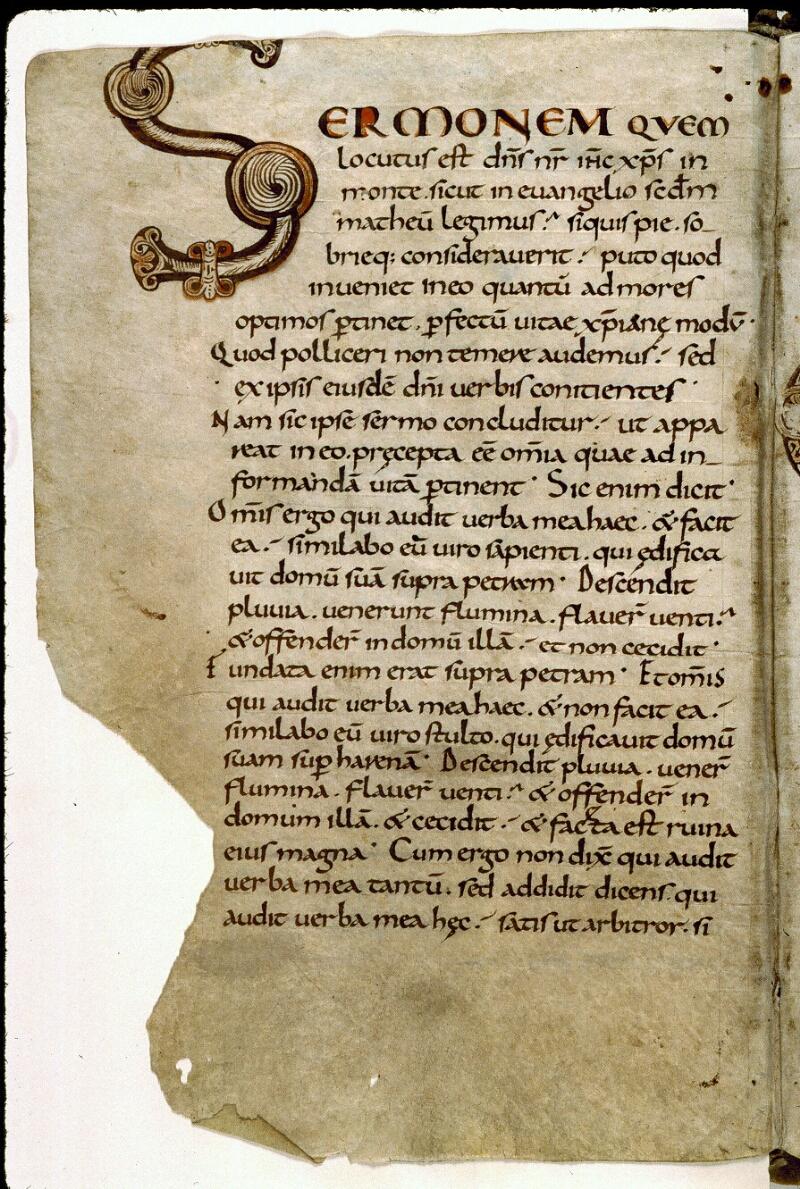 Angers, Bibl. mun., ms. 0286, f. 001v - vue 2