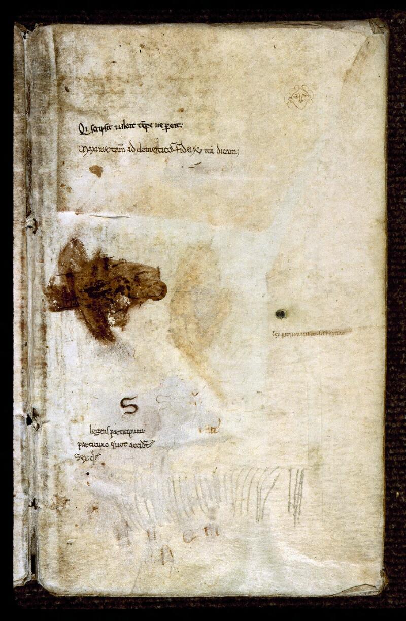 Angers, Bibl. mun., ms. 0289, contre-plat inf. - vue 1