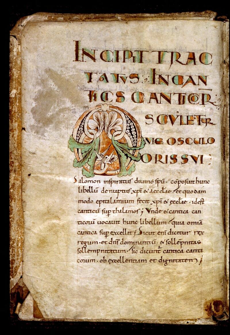 Angers, Bibl. mun., ms. 0290, f. 001v - vue 2