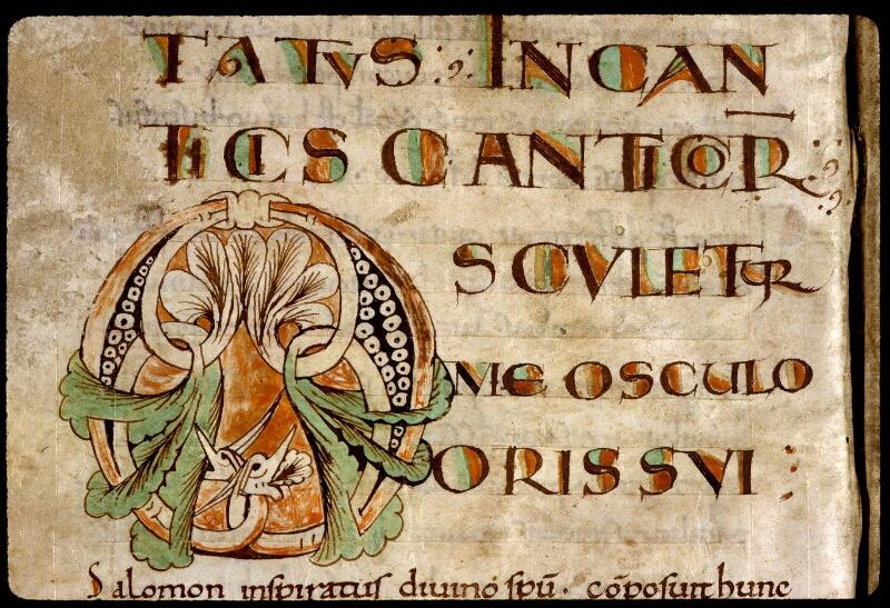 Angers, Bibl. mun., ms. 0290, f. 001v - vue 3