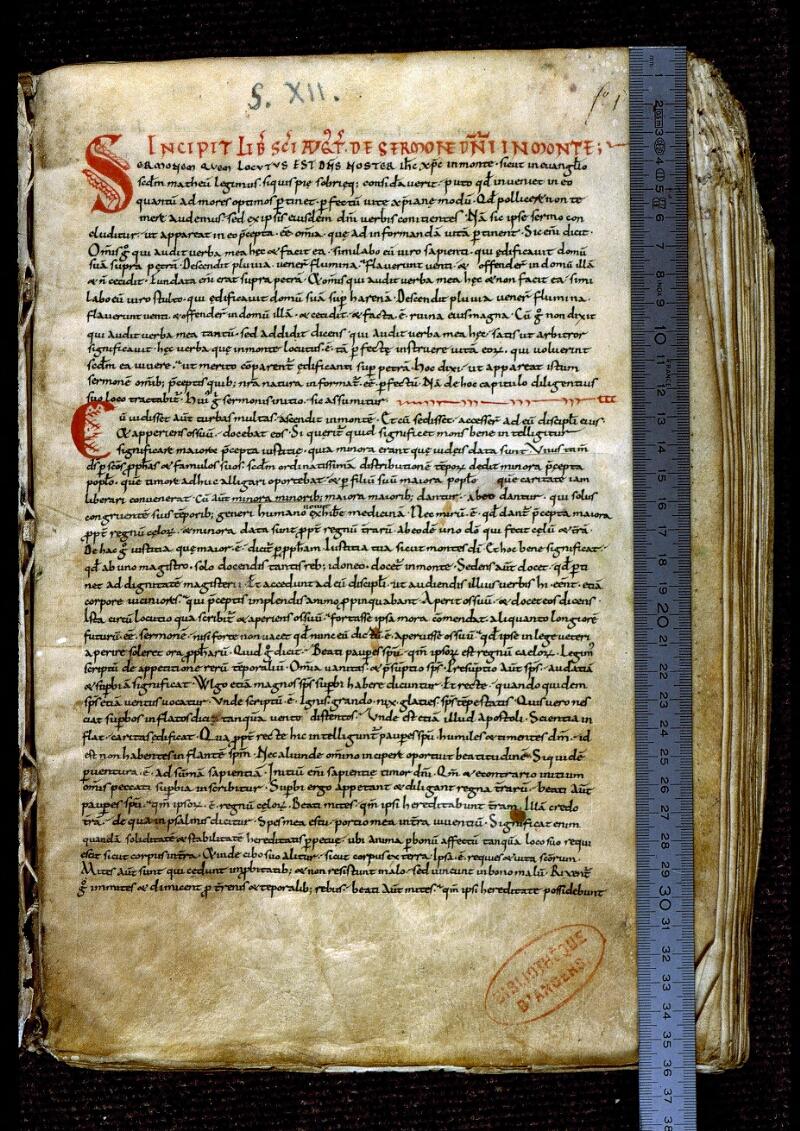 Angers, Bibl. mun., ms. 0293, f. 001 - vue 1