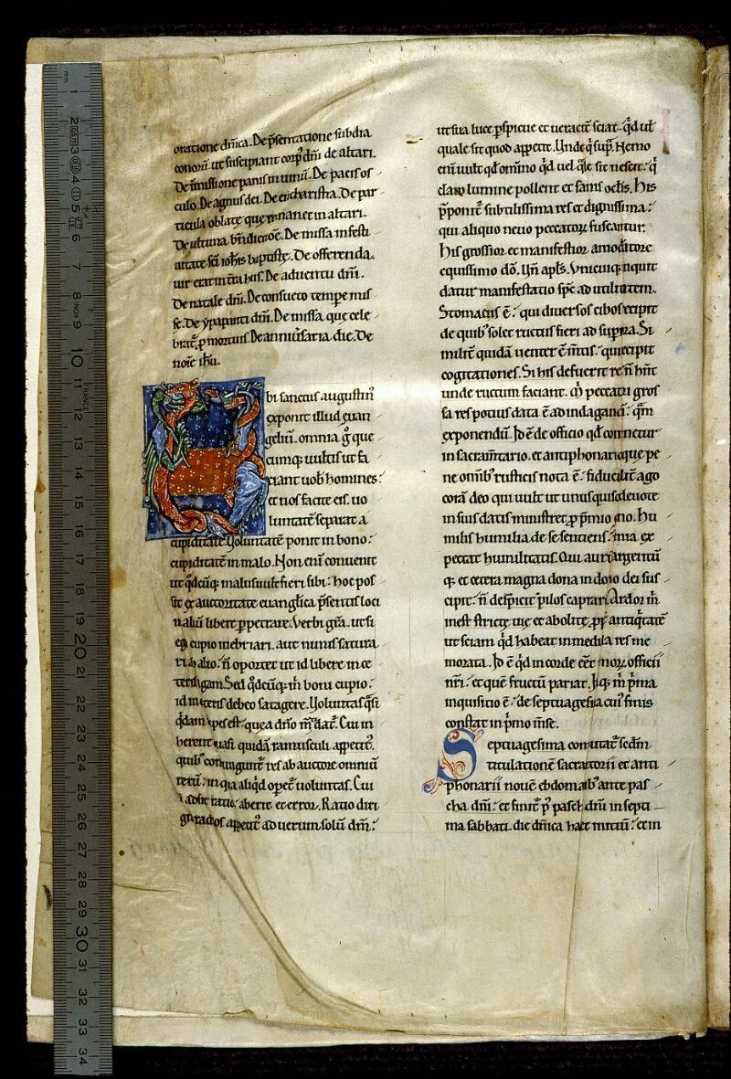 Angers, Bibl. mun., ms. 0300, A f. 001v - vue 1