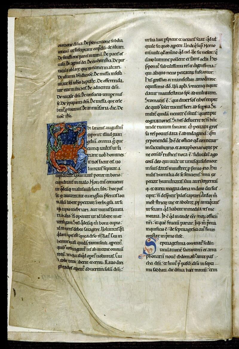 Angers, Bibl. mun., ms. 0300, A f. 001v - vue 2