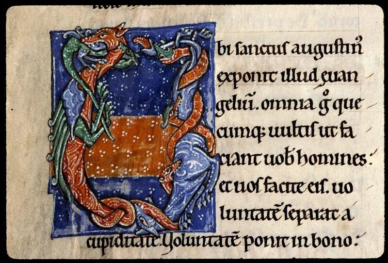 Angers, Bibl. mun., ms. 0300, A f. 001v - vue 3