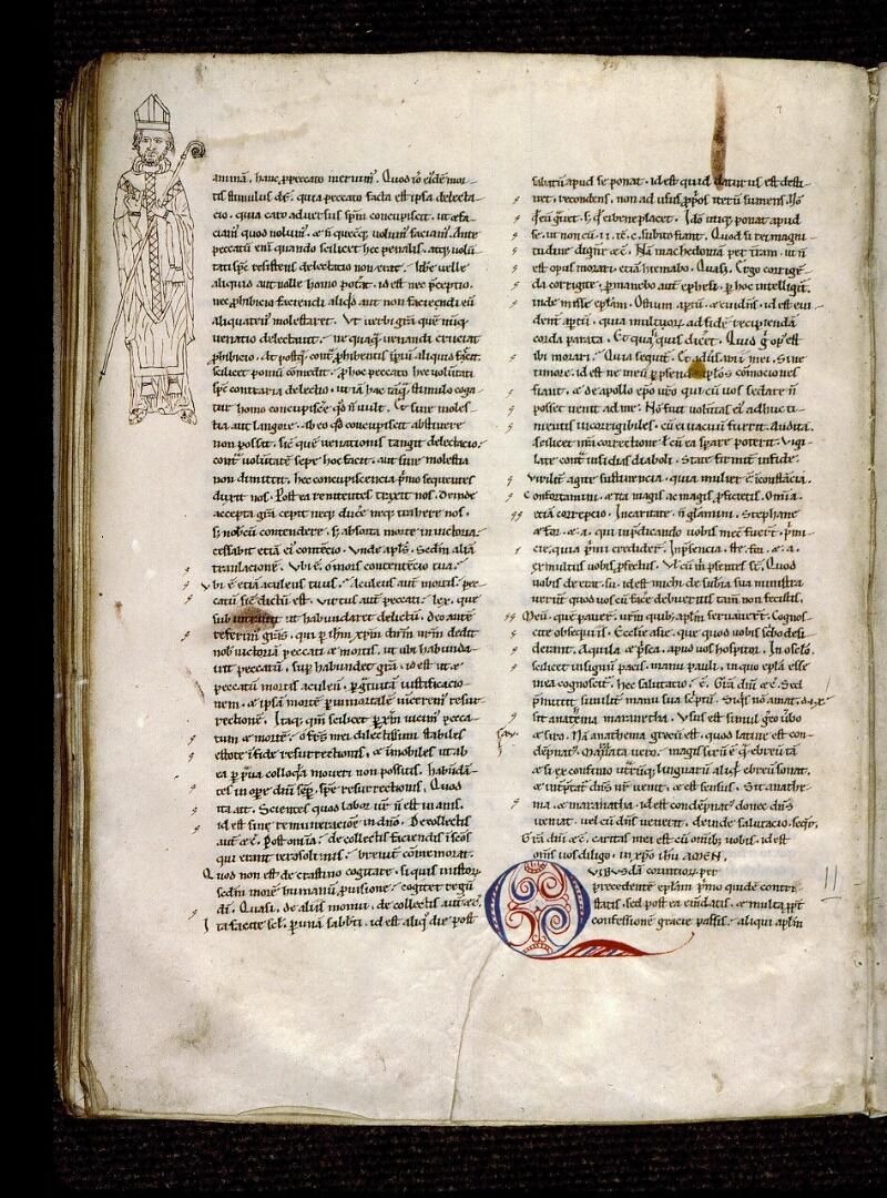Angers, Bibl. mun., ms. 0300, B f. 061v - vue 1