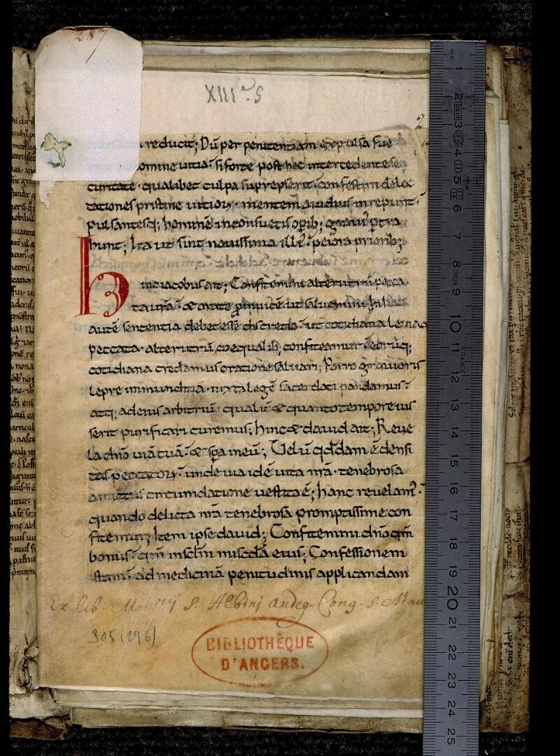 Angers, Bibl. mun., ms. 0305, f. 001 - vue 1
