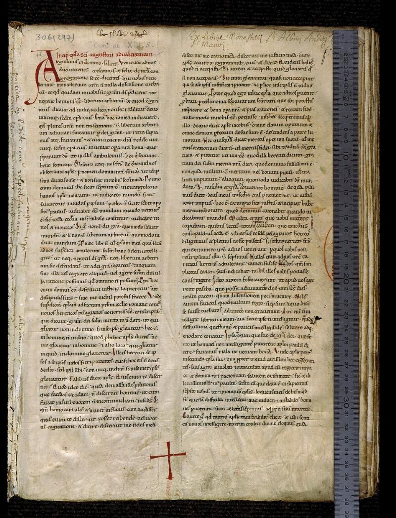 Angers, Bibl. mun., ms. 0306, f. 001 - vue 1