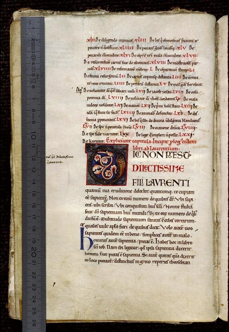 Angers, Bibl. mun., ms. 0308, f. 001v - vue 1