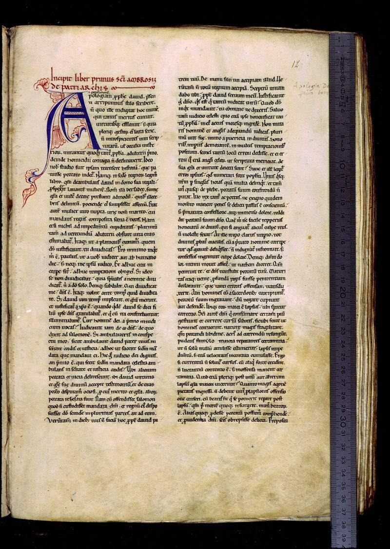 Angers, Bibl. mun., ms. 0309, f. 012 - vue 1