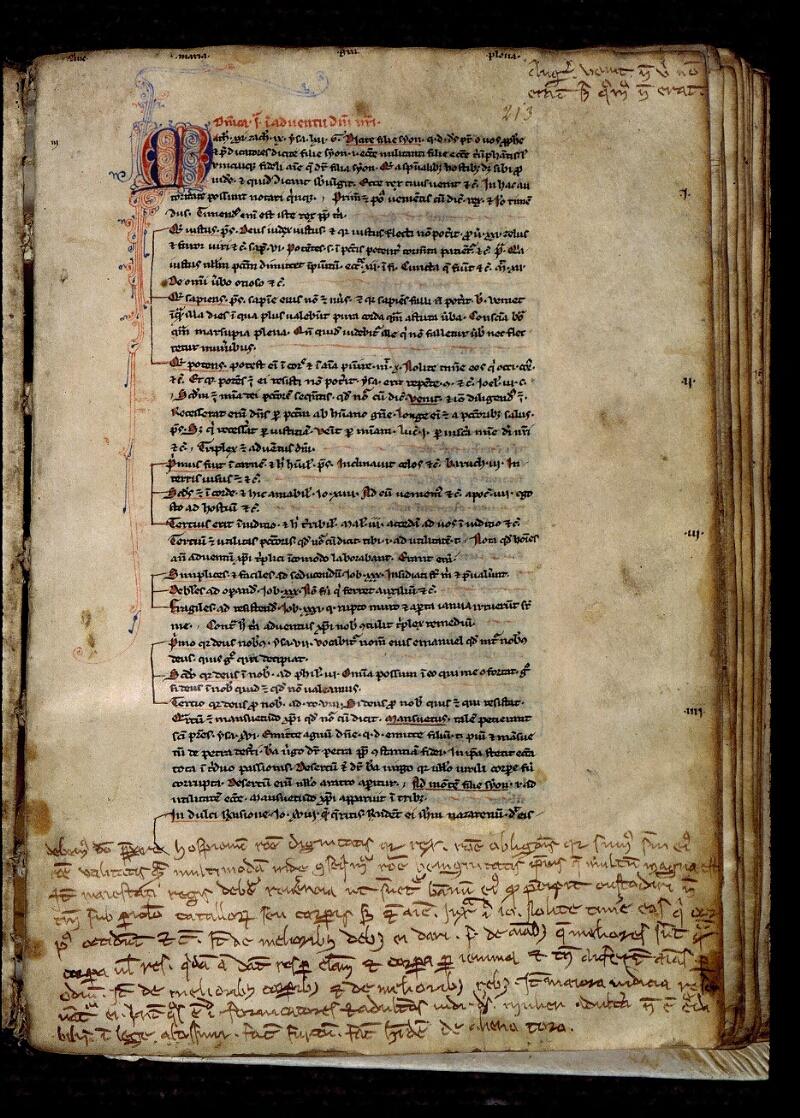 Angers, Bibl. mun., ms. 0311, f. 213 - vue 1
