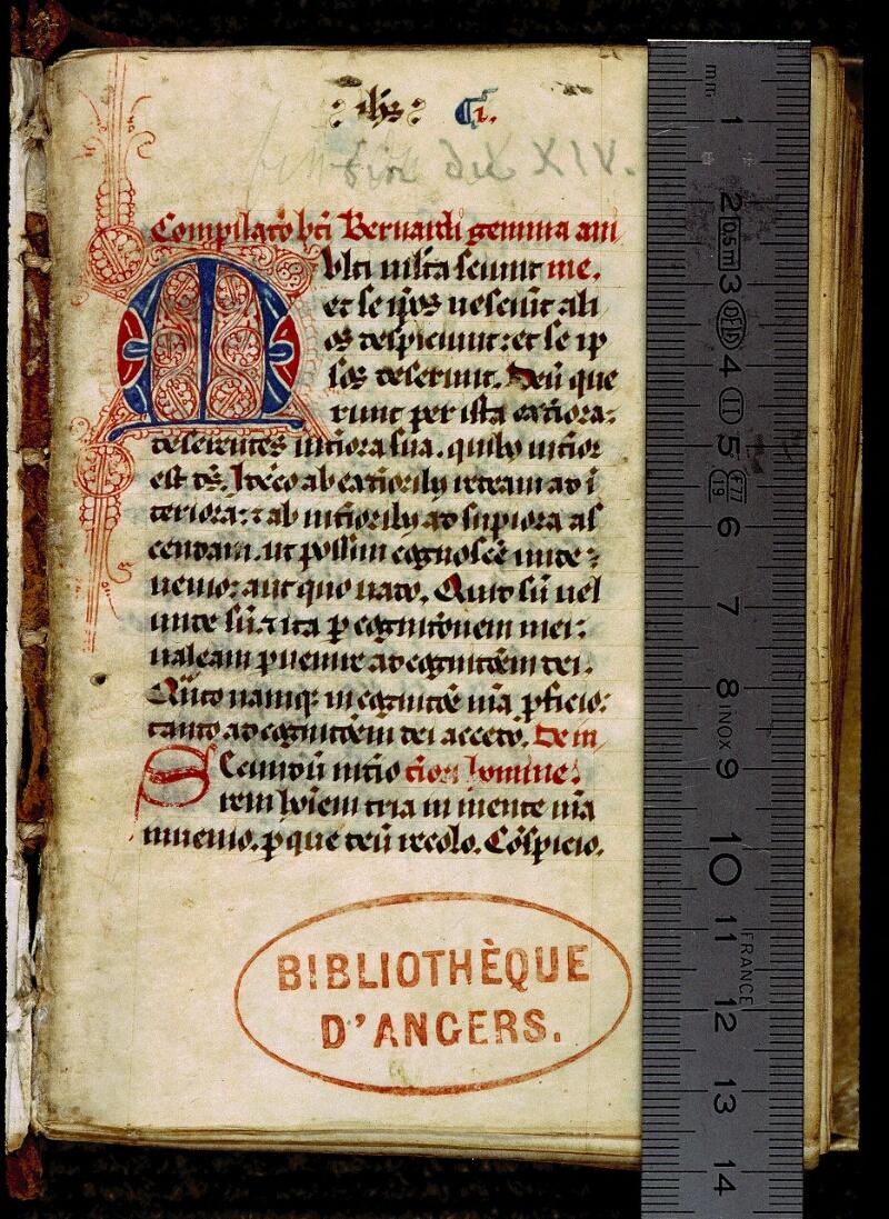 Angers, Bibl. mun., ms. 0317, f. 001 - vue 1