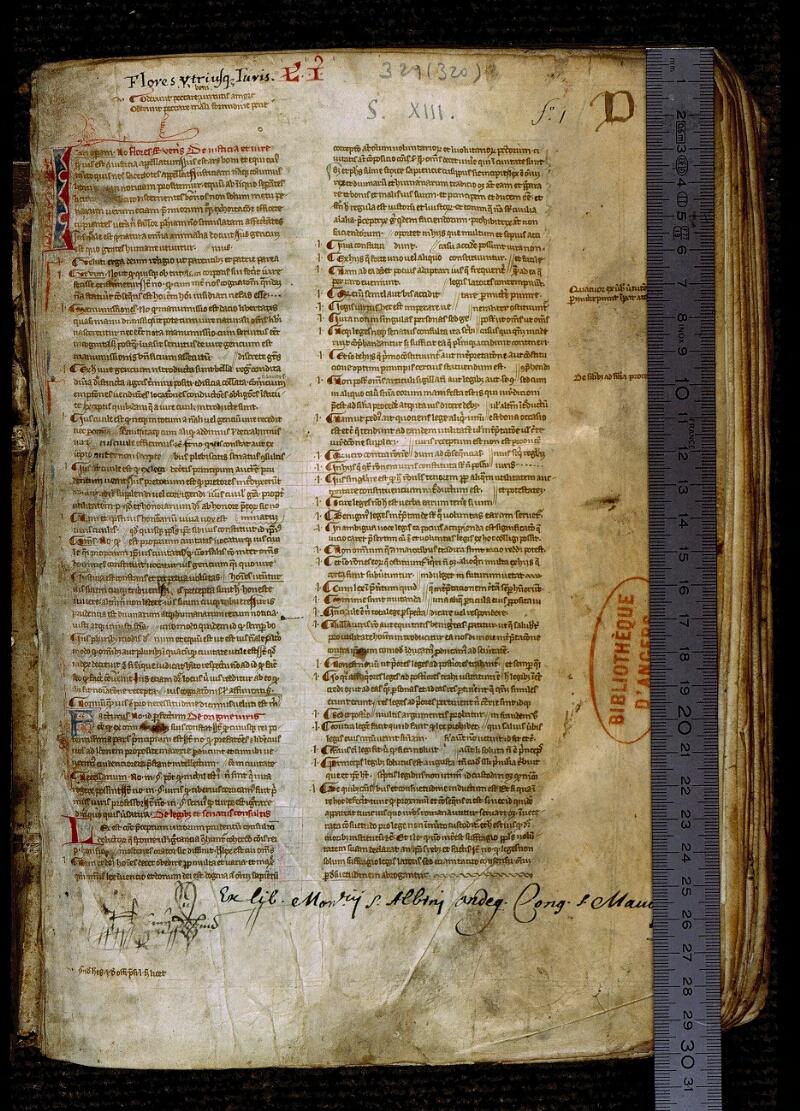 Angers, Bibl. mun., ms. 0329, f. 001 - vue 1