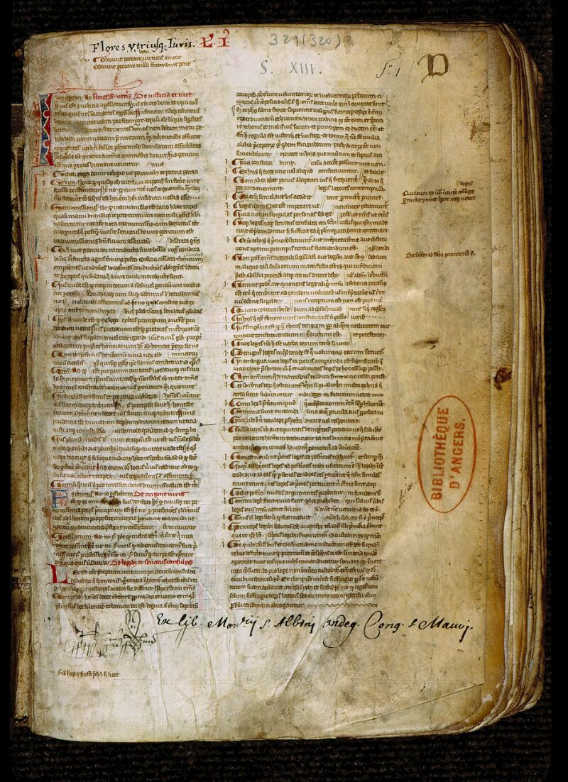 Angers, Bibl. mun., ms. 0329, f. 001 - vue 2