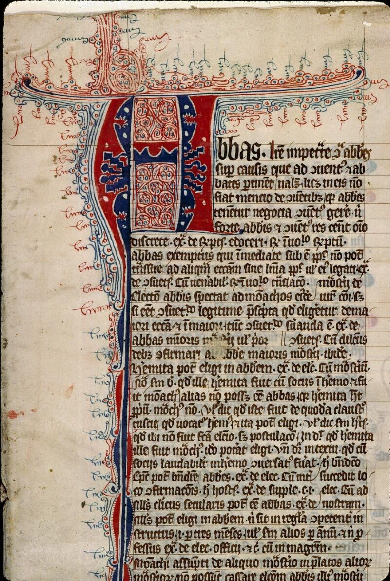 Angers, Bibl. mun., ms. 0330, f. 001 - vue 3
