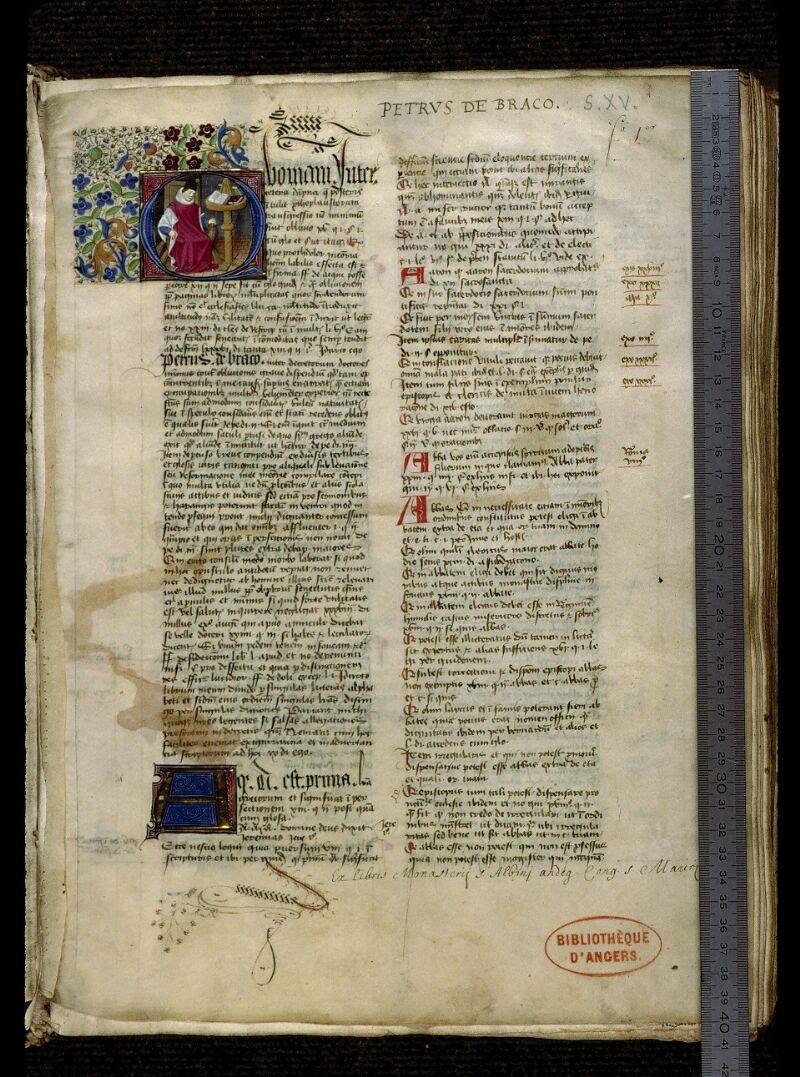 Angers, Bibl. mun., ms. 0331, f. 001 - vue 1
