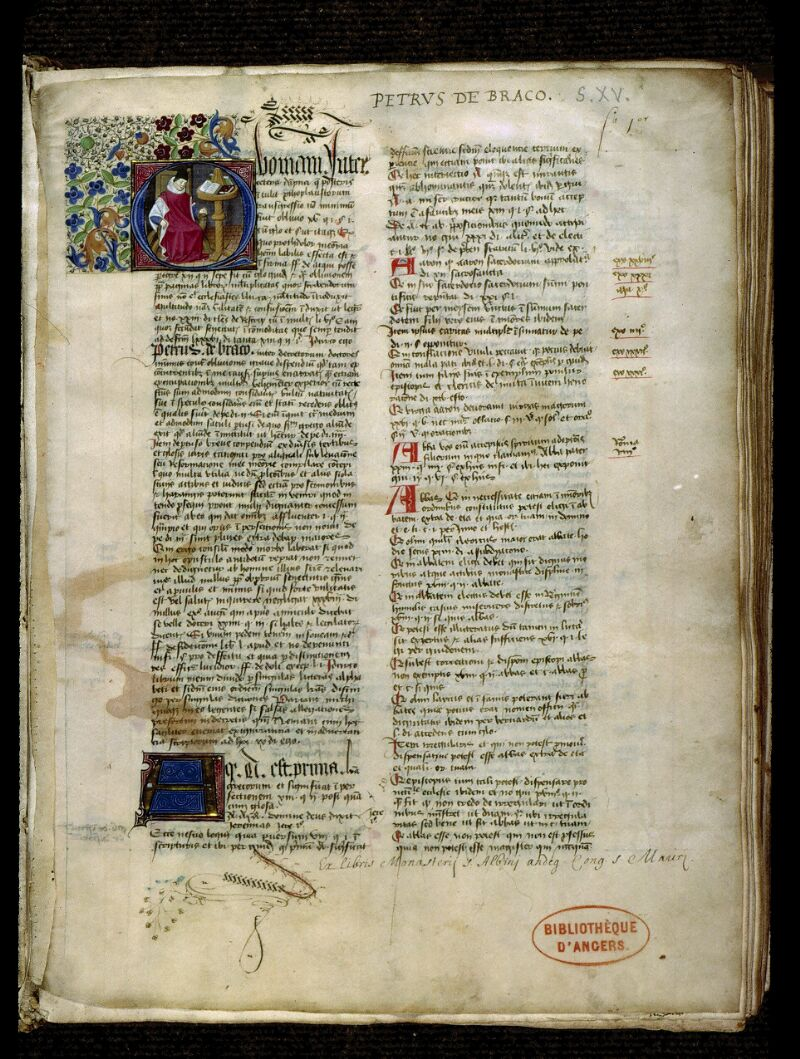 Angers, Bibl. mun., ms. 0331, f. 001 - vue 2