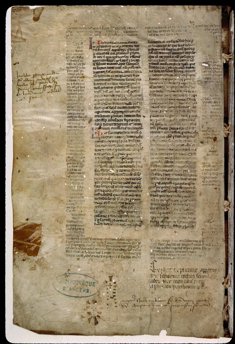 Angers, Bibl. mun., ms. 0333, f. 283v - vue 1