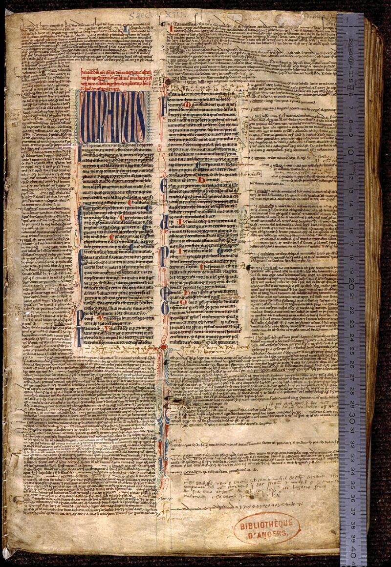 Angers, Bibl. mun., ms. 0335, f. 001 - vue 1