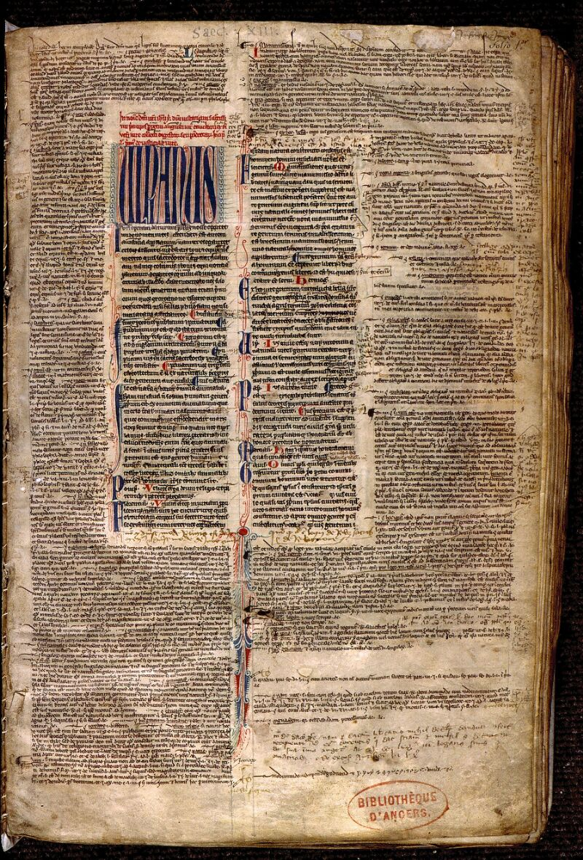 Angers, Bibl. mun., ms. 0335, f. 001 - vue 2