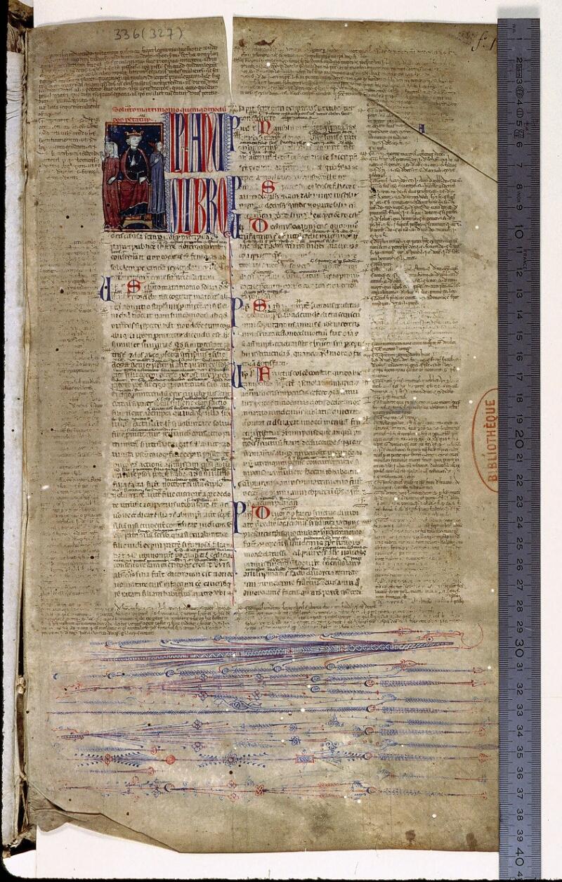 Angers, Bibl. mun., ms. 0336, f. 001 - vue 1