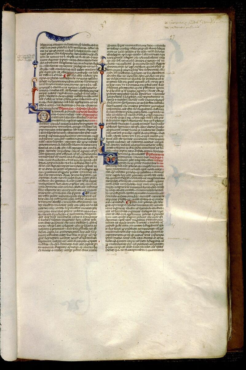 Angers, Bibl. mun., ms. 0338, f. 027 - vue 1