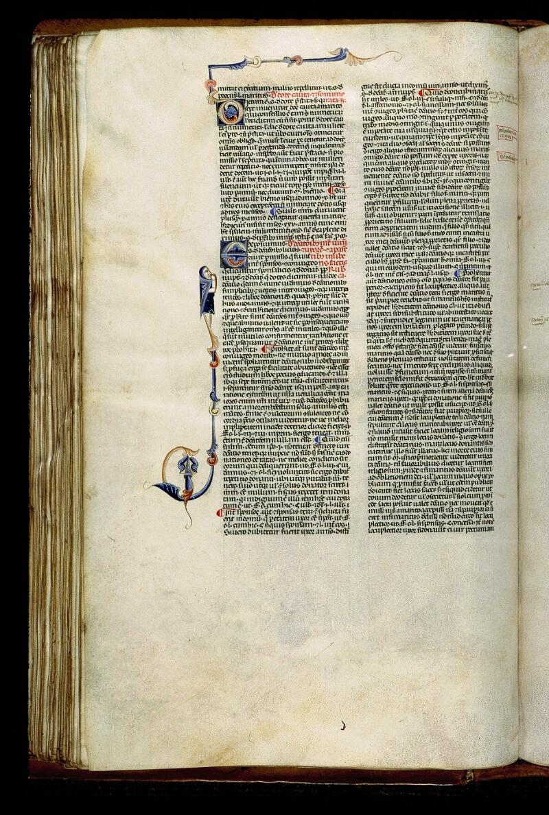 Angers, Bibl. mun., ms. 0338, f. 105v - vue 1