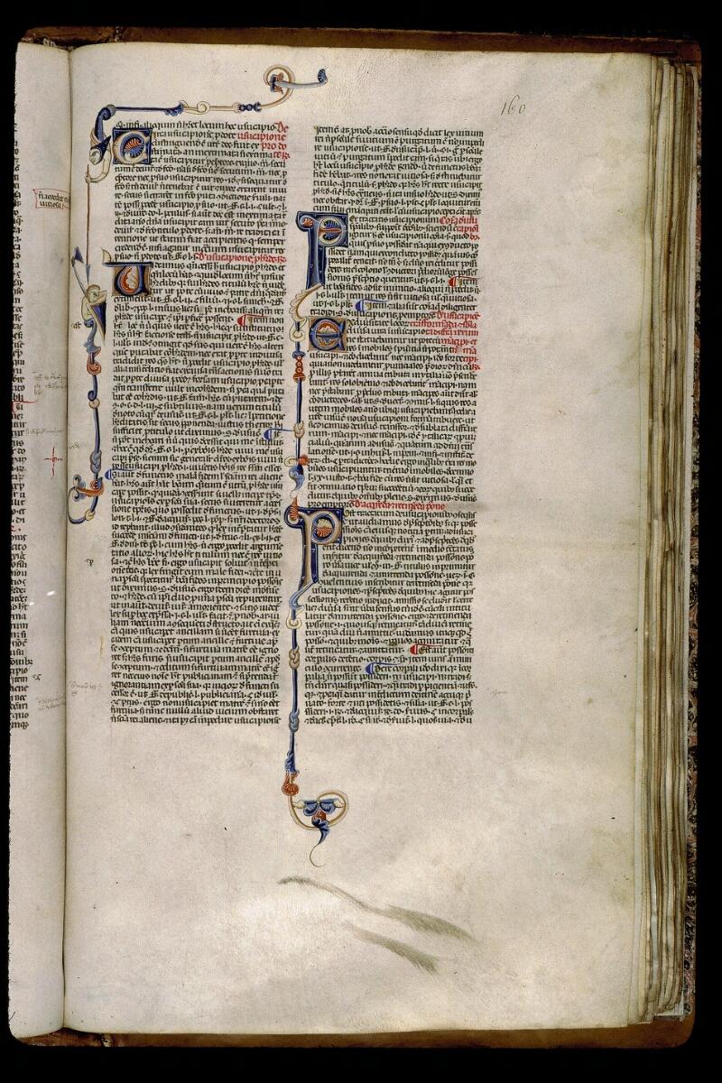 Angers, Bibl. mun., ms. 0338, f. 160 - vue 1