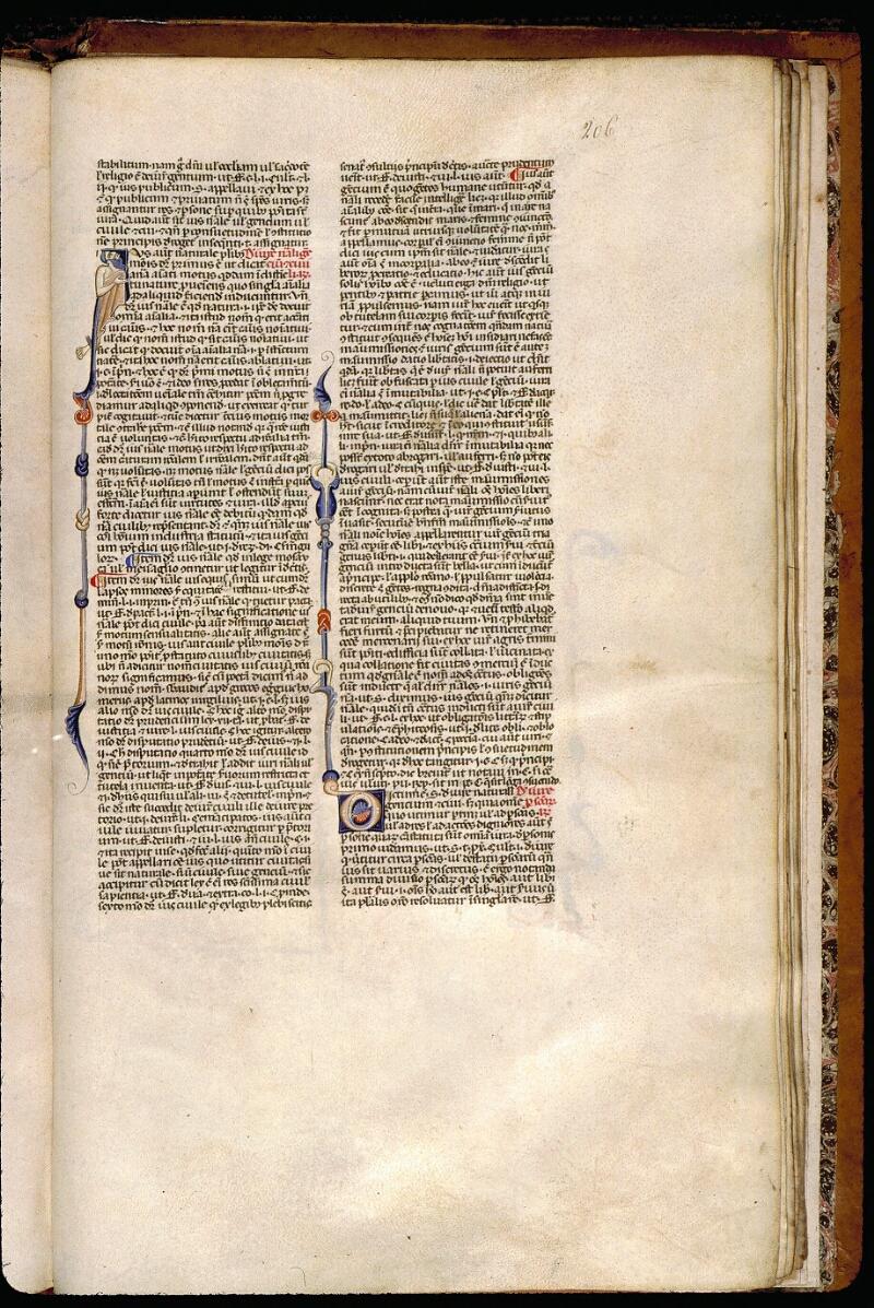 Angers, Bibl. mun., ms. 0338, f. 206 - vue 1