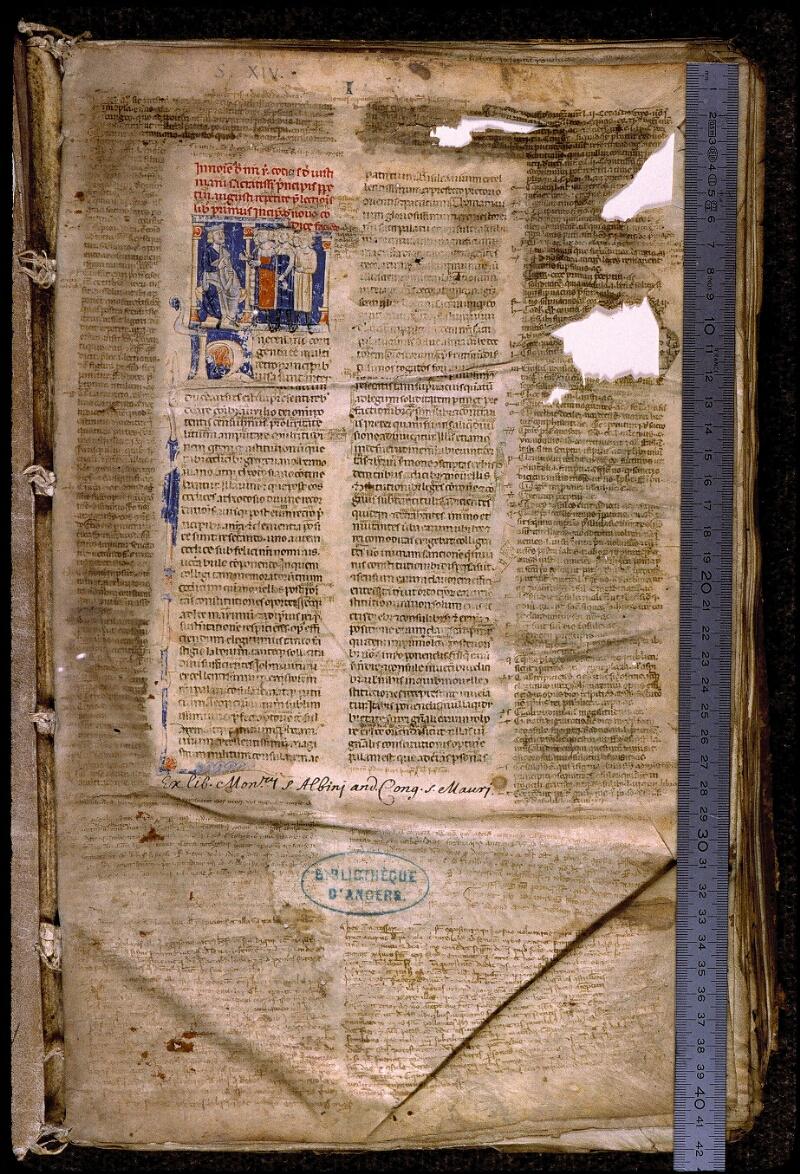Angers, Bibl. mun., ms. 0339, f. 001 - vue 1