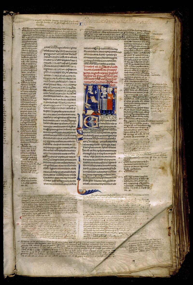 Angers, Bibl. mun., ms. 0339, f. 003 - vue 1