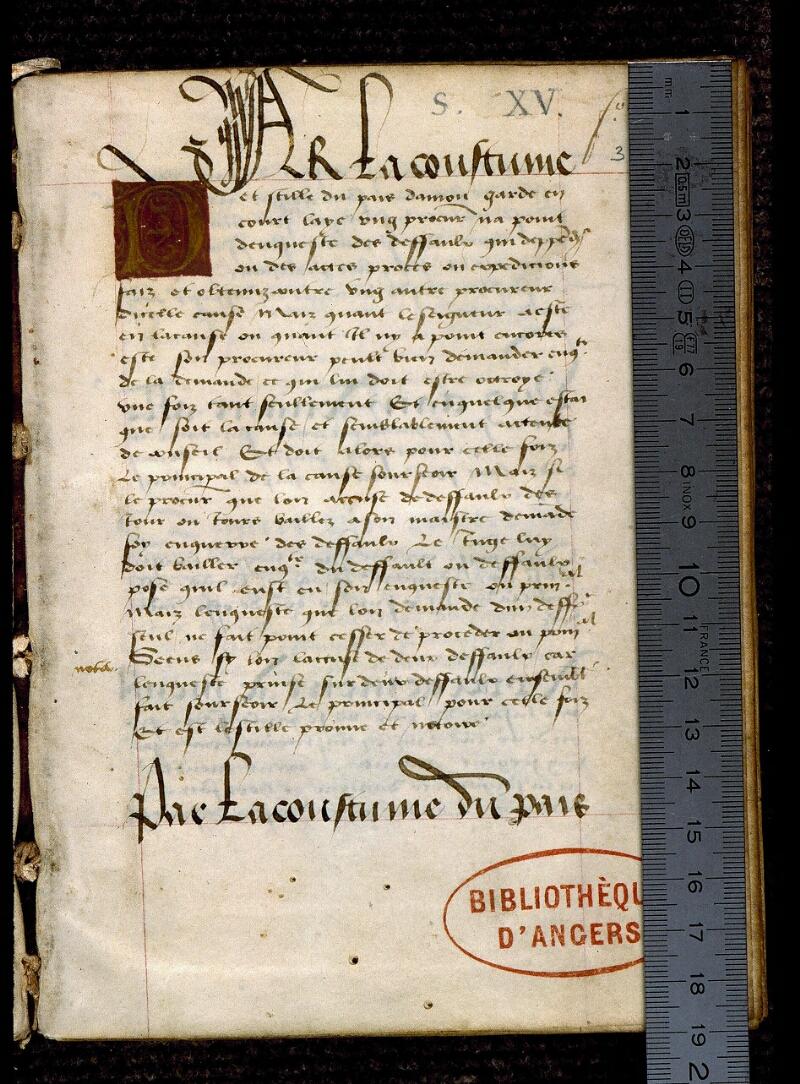 Angers, Bibl. mun., ms. 0343, f. 001 - vue 1