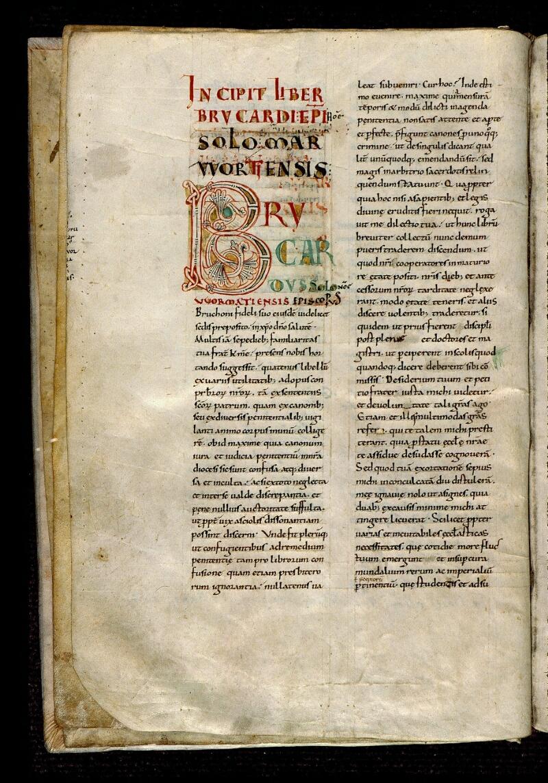 Angers, Bibl. mun., ms. 0368, f. 001v - vue 2