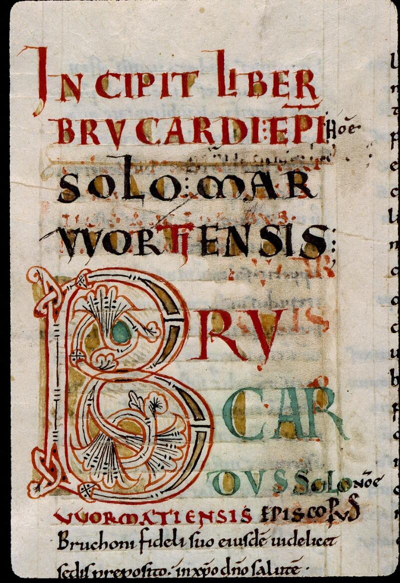 Angers, Bibl. mun., ms. 0368, f. 001v - vue 3