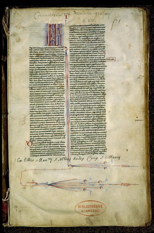 Angers, Bibl. mun., ms. 0370, f. 001 - vue 2