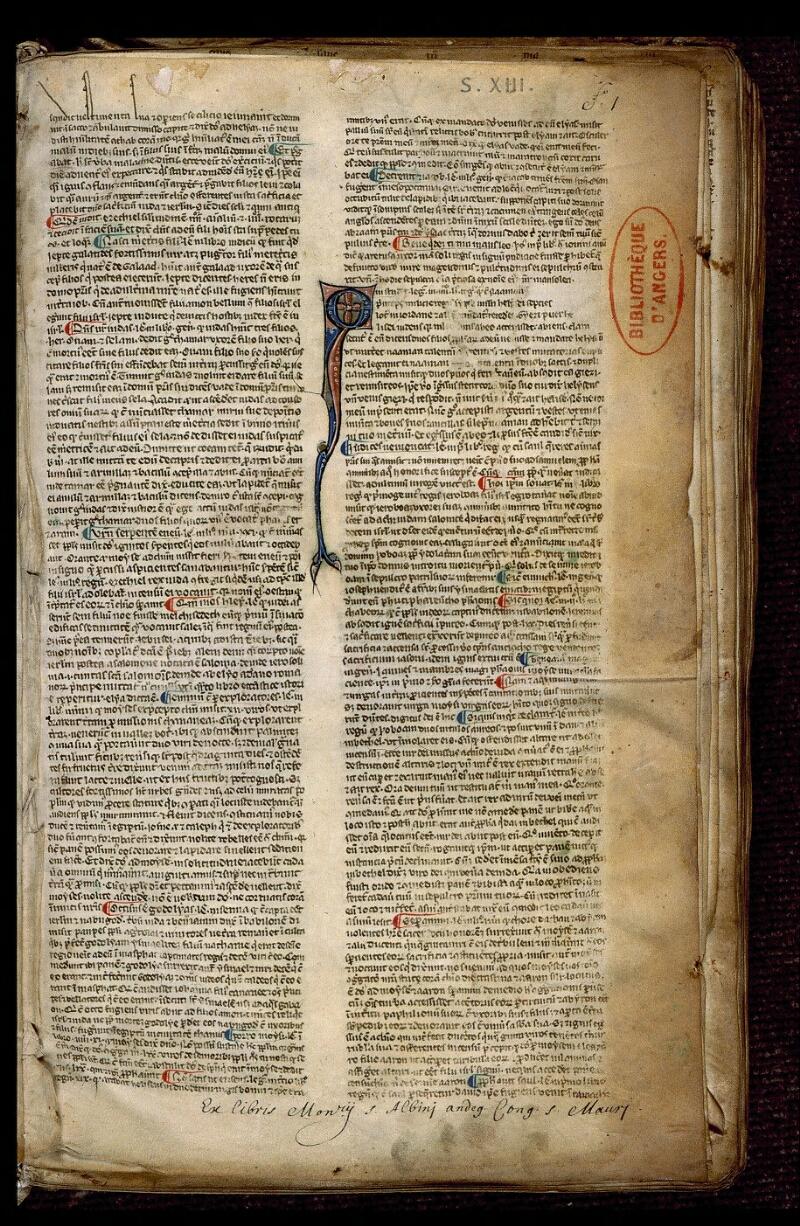 Angers, Bibl. mun., ms. 0371, f. 001 - vue 2