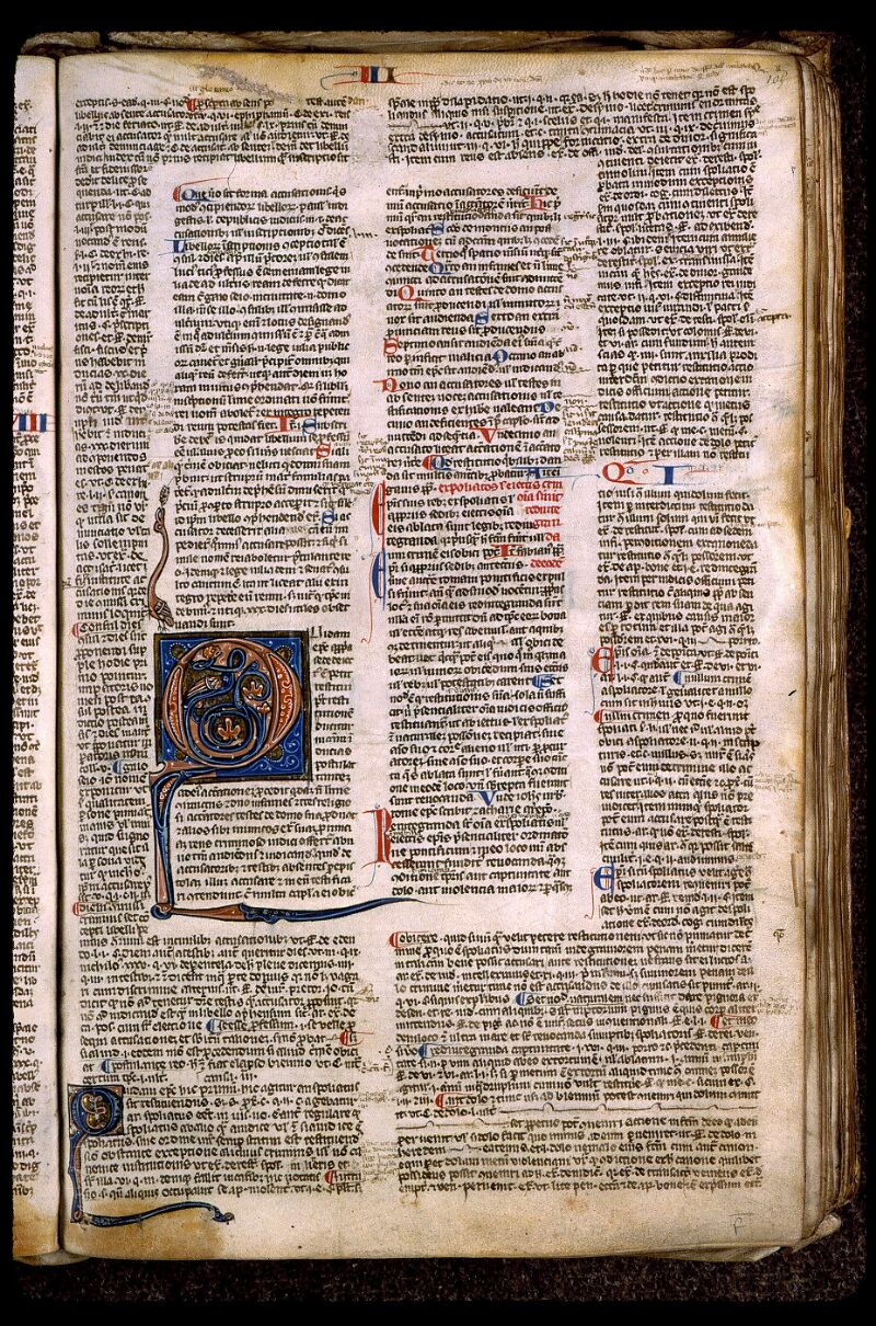 Angers, Bibl. mun., ms. 0371, f. 105 - vue 1