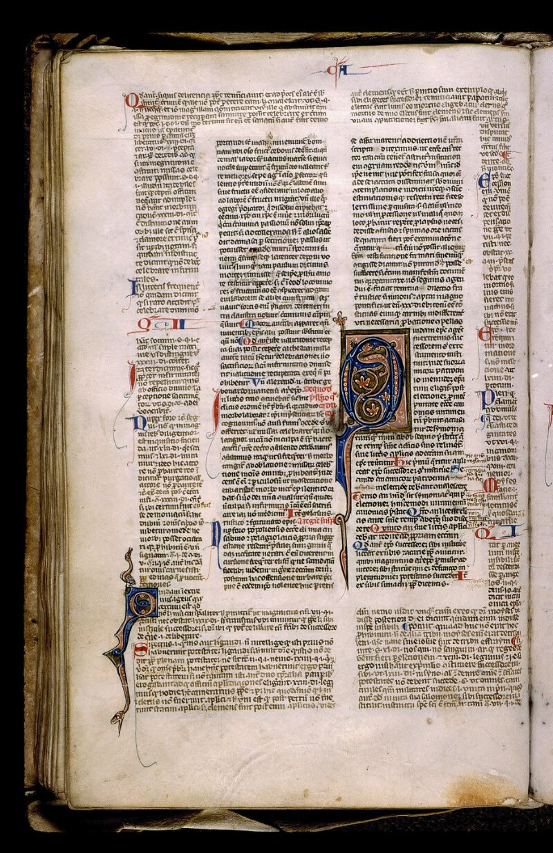 Angers, Bibl. mun., ms. 0371, f. 122v - vue 1