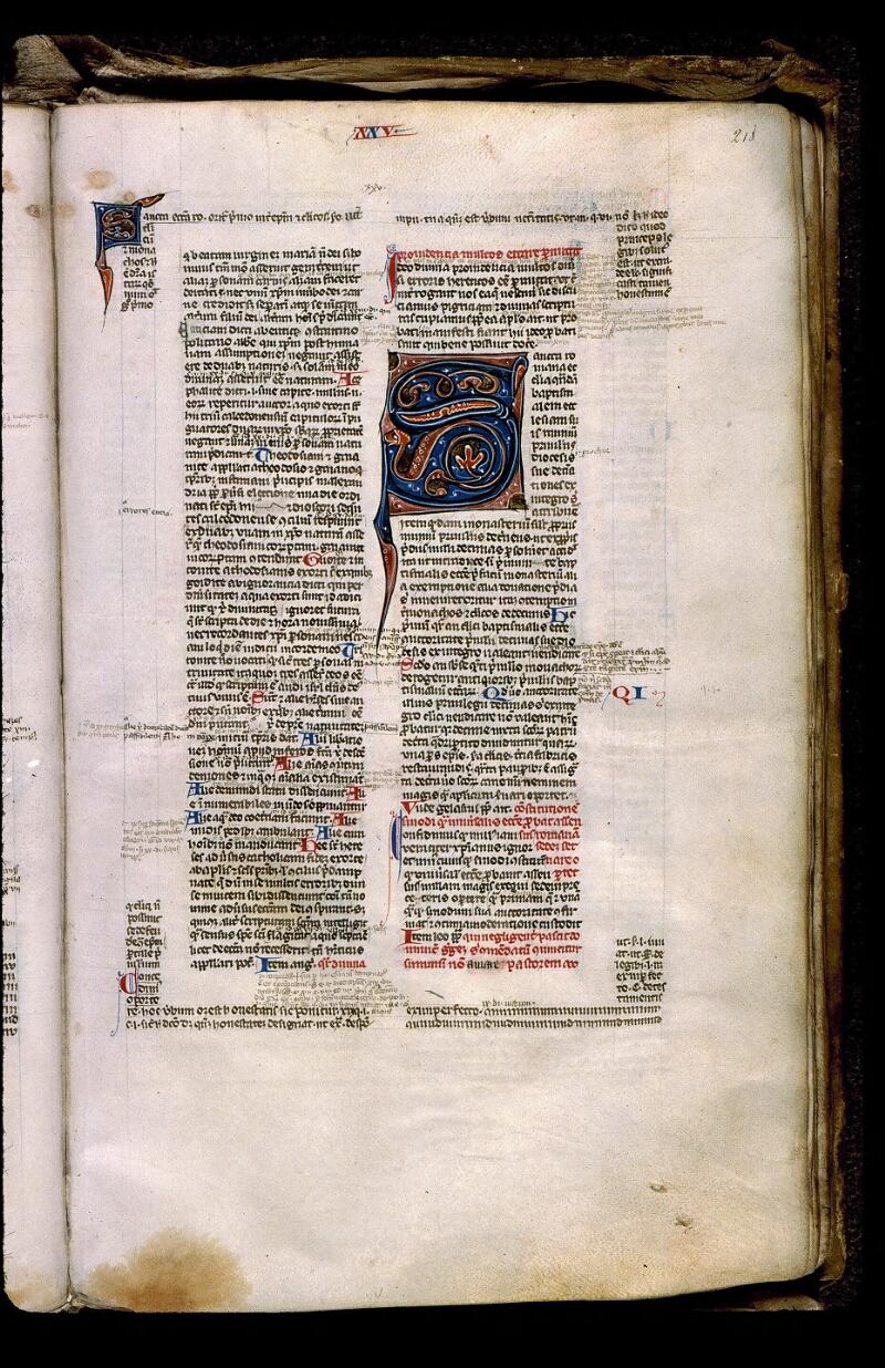 Angers, Bibl. mun., ms. 0371, f. 218 - vue 1
