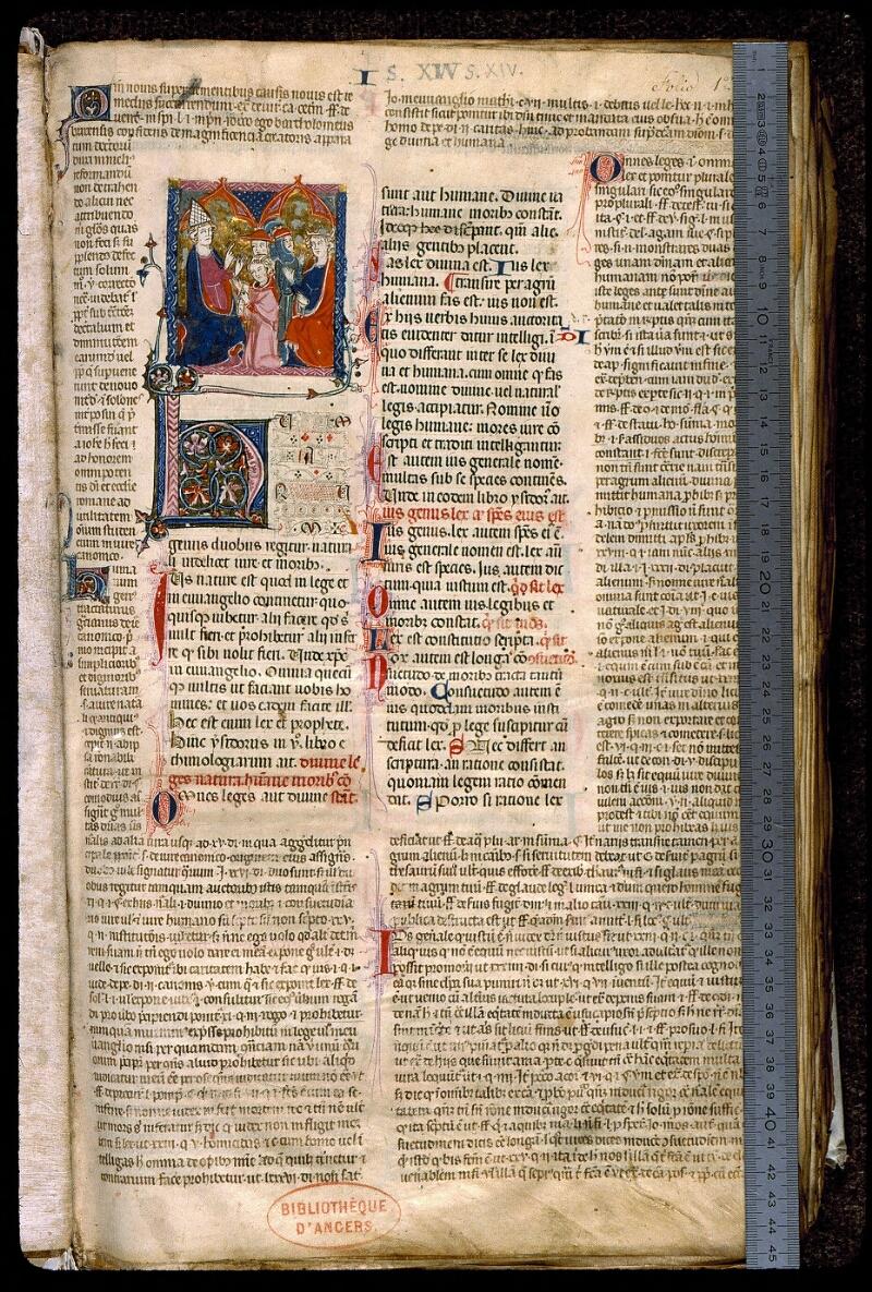 Angers, Bibl. mun., ms. 0372, f. 001 - vue 1