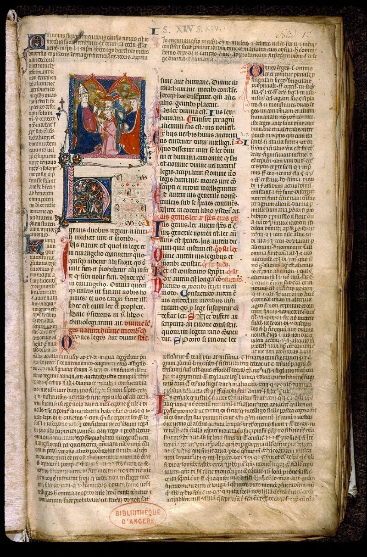 Angers, Bibl. mun., ms. 0372, f. 001 - vue 2
