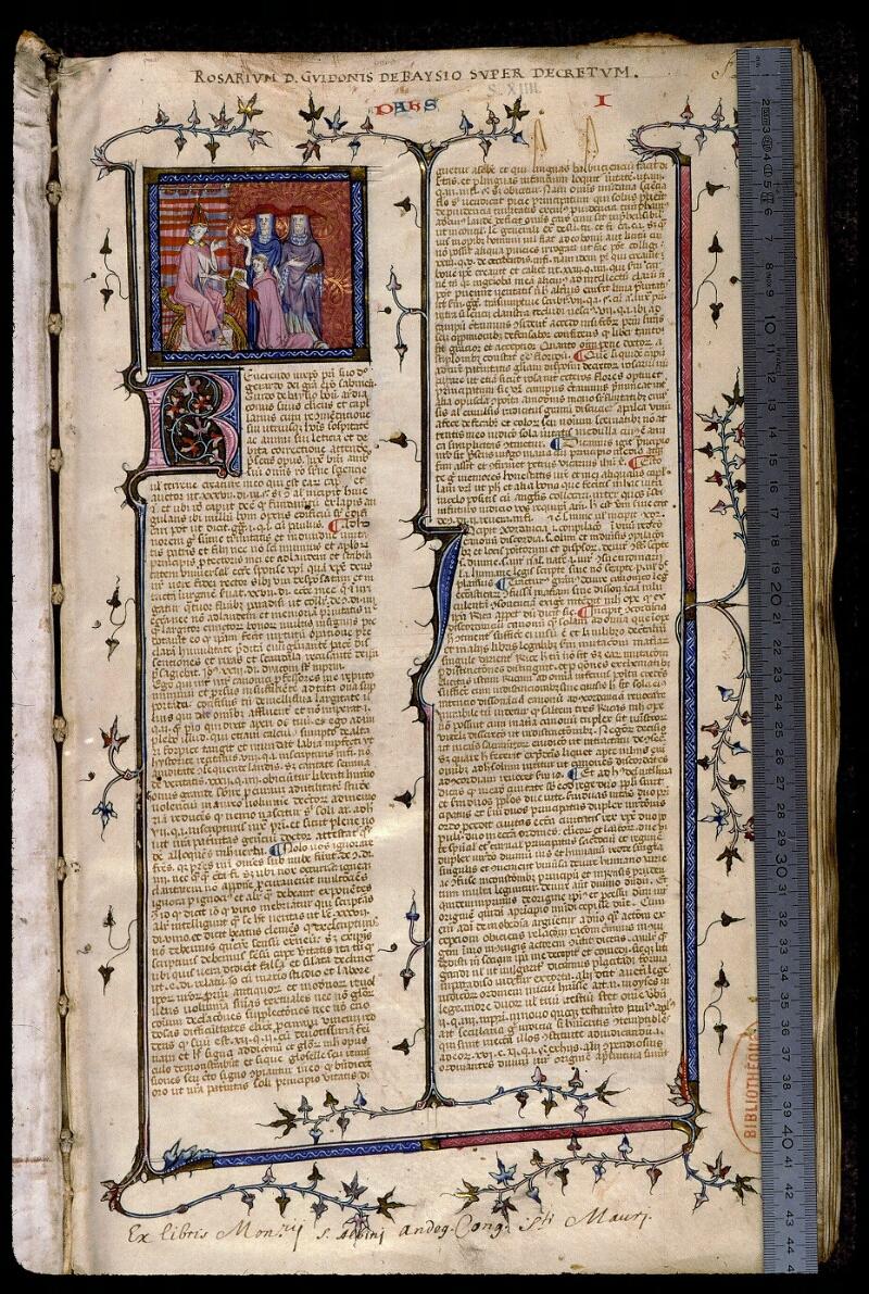 Angers, Bibl. mun., ms. 0373, f. 001 - vue 1