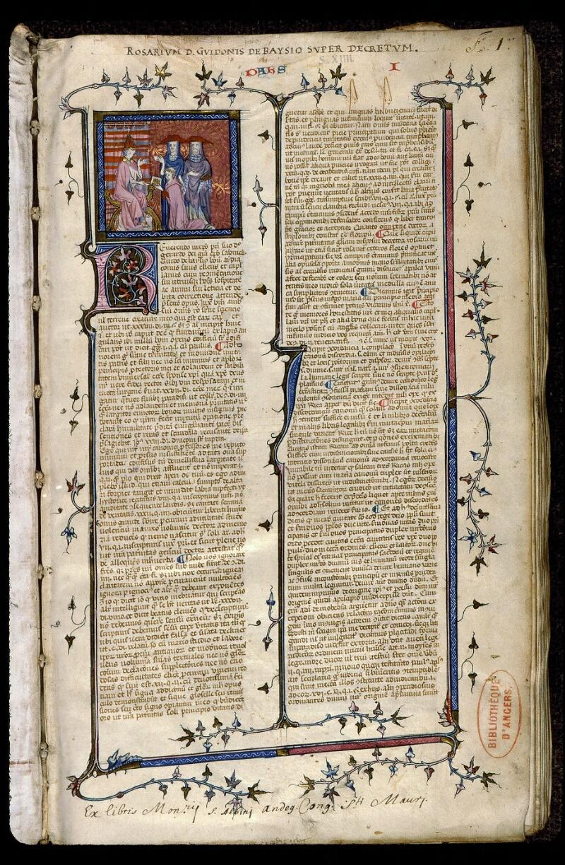 Angers, Bibl. mun., ms. 0373, f. 001 - vue 2