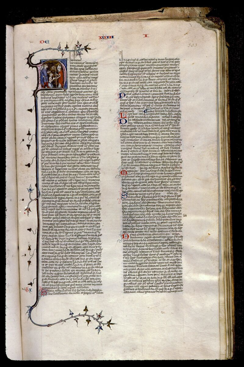 Angers, Bibl. mun., ms. 0373, f. 303 - vue 1