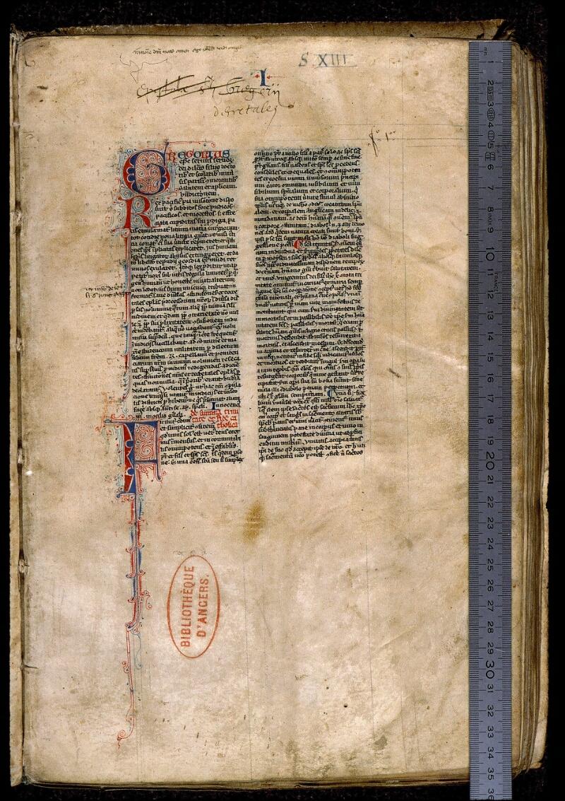 Angers, Bibl. mun., ms. 0374, B f. 001 - vue 1
