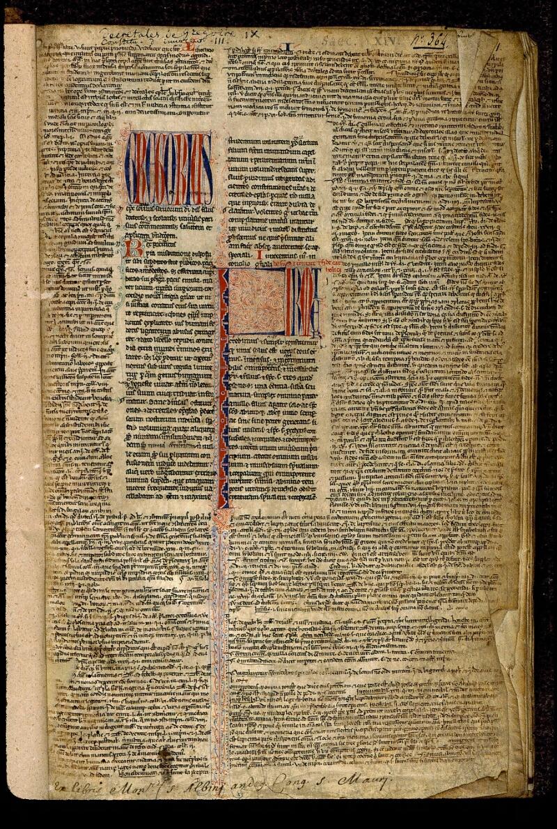 Angers, Bibl. mun., ms. 0377, f. 001 - vue 2