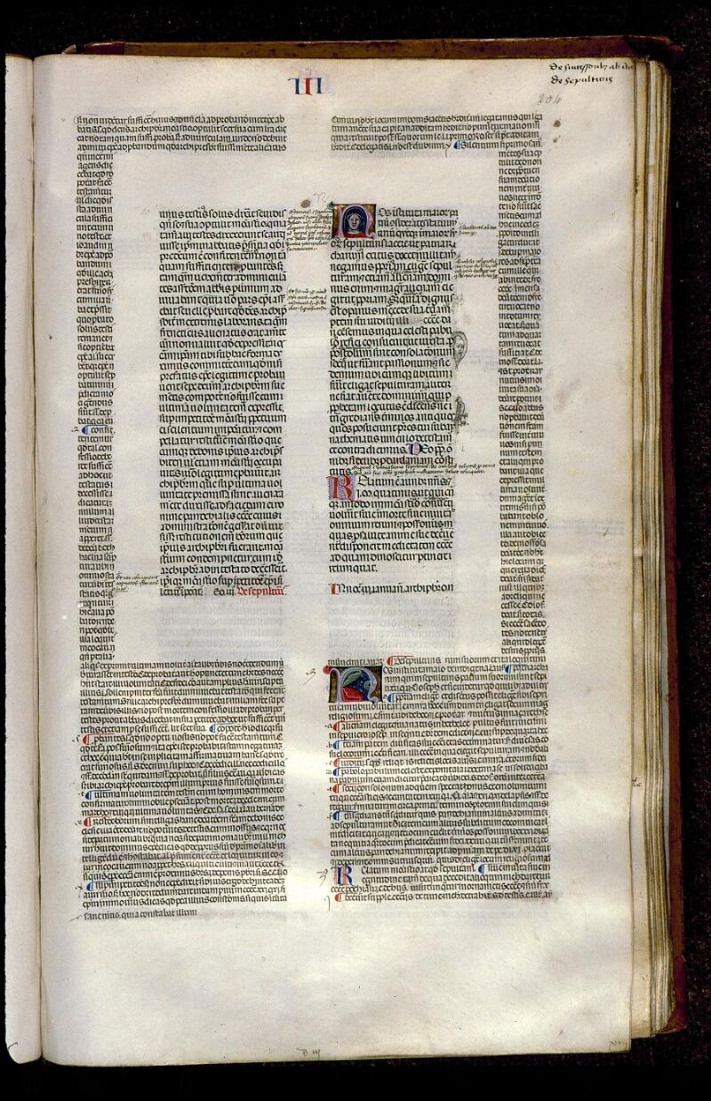 Angers, Bibl. mun., ms. 0378, f. 204 - vue 1