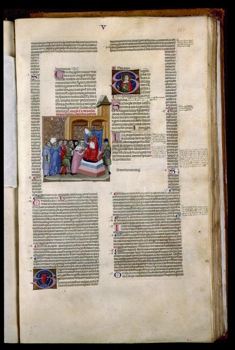 Angers, Bibl. mun., ms. 0378, f. 263 - vue 1